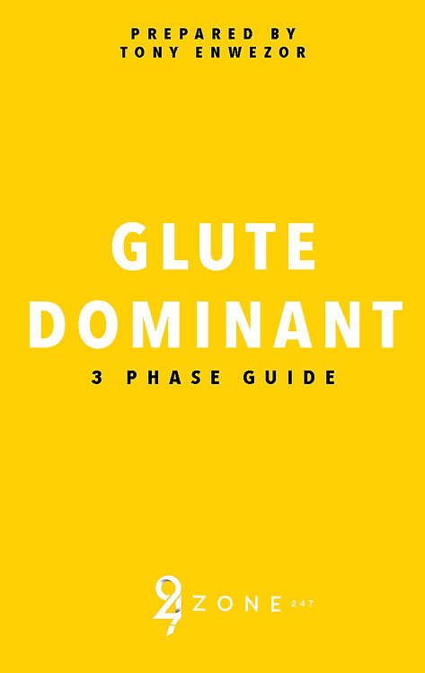Glute Dominant Guide (Nutrition Info Included)
