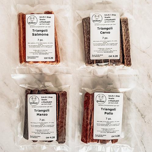 Triangoli 7 pz manzo/cervo/pollo/salmone