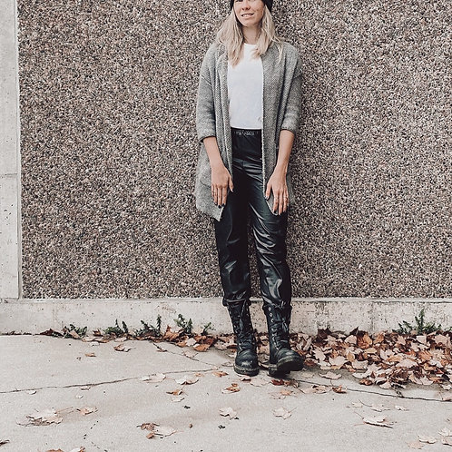Faux leather (stretch) Pant