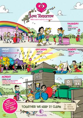 Infographic duurzaamheid Tomorrowland festival ID&T