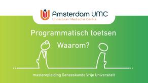 Animatie Amsterdam UMC | Programmatisch Toetsen, Waarom?