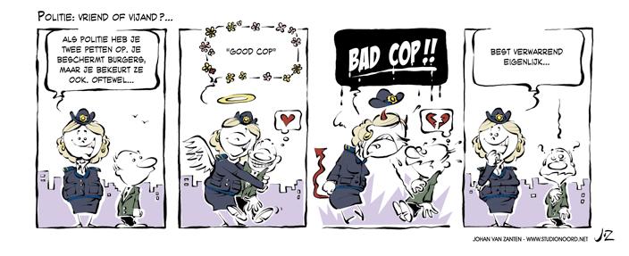 Maandelijks strip Politieacademie