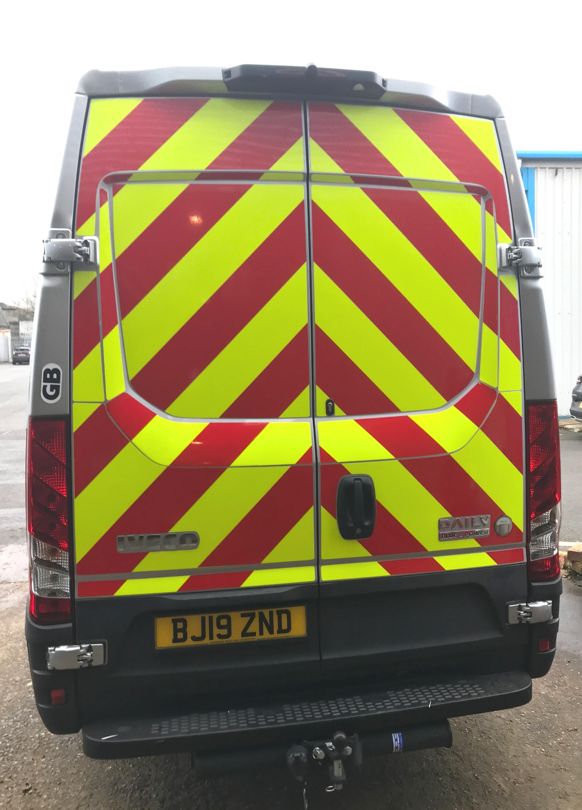 Chevron graphics for vans in Aldridge