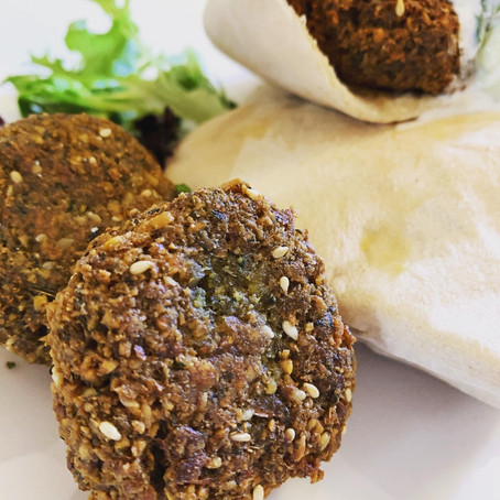 aromatic falafel with tzatziki