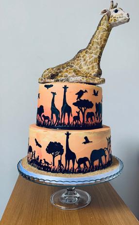 The Giraffe Safari Cake