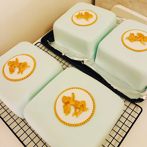 Rich Christmas Cake with Marzipan and Fondant decoration