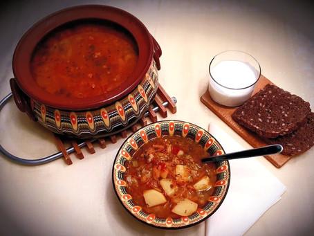Laura Tatulescu's Romanian Meatball or Vegan Soup - Ciorbă de perișoare