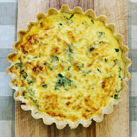 velvety zucchini and lardon quiche