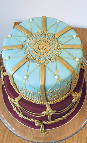 Detail of the Royal Opera House cake