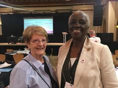 Elizabeth Lynskey and Elaine Unegbu