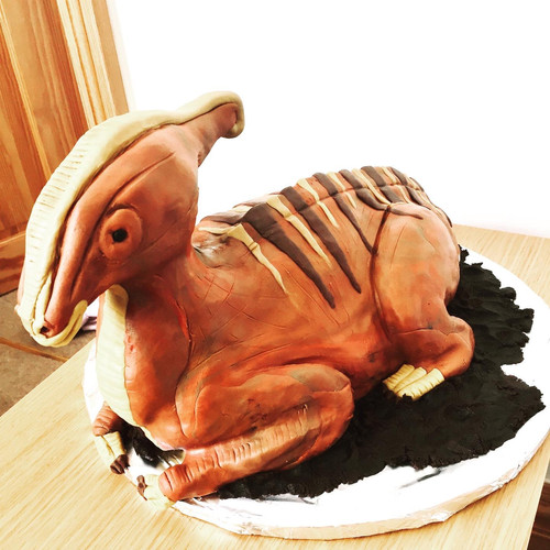 Baby Parasaurolophus Cake
