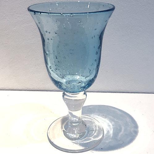 verre à pied turquoise