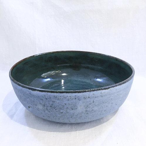 Large blue dish