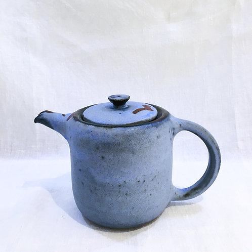 Théière bleu