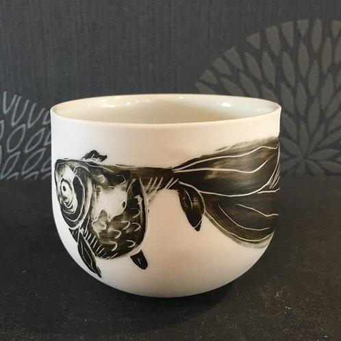Tasse porcelaine décor poisson