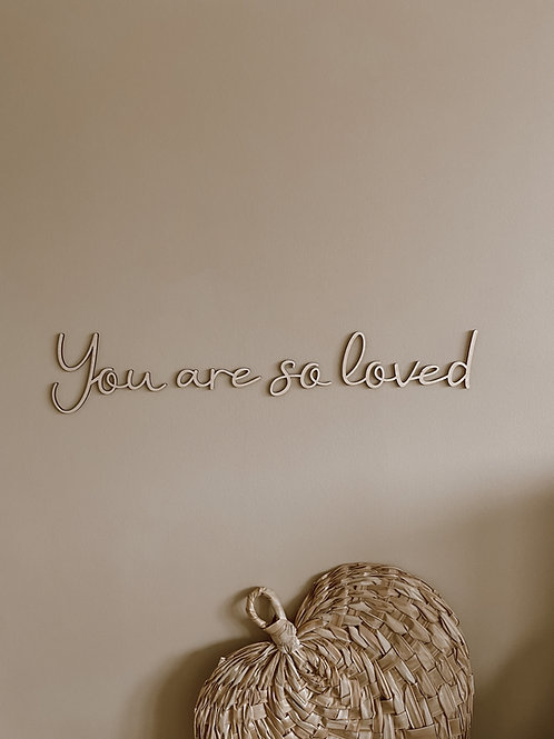 """Tekst """"You are so loved"""" Handwriting"""