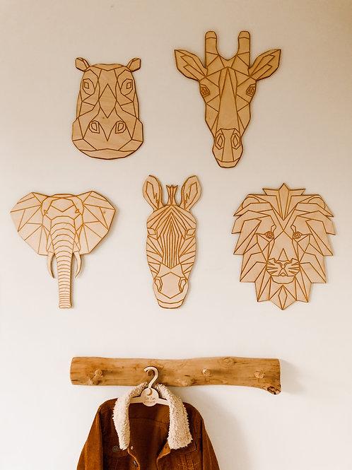 Safari dieren van hout