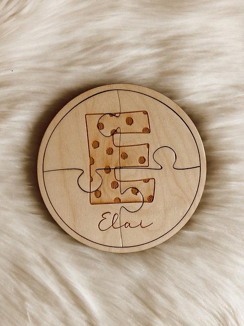 Houten puzzel met naam