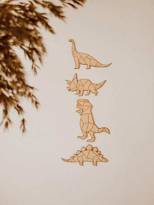 Dino's van hout - set van 4
