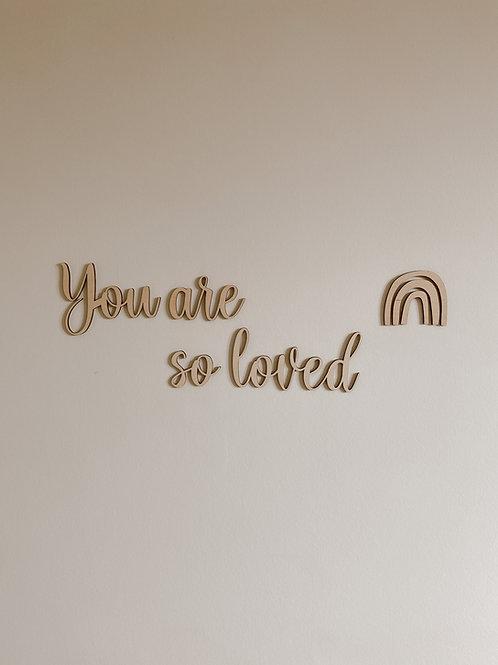 """Tekst """"You are so loved"""" Sierlijk"""