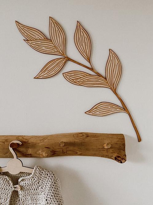Houten decoratie 'Leaf'