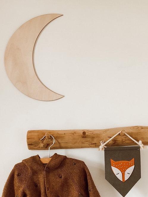 Houten decoratie maan