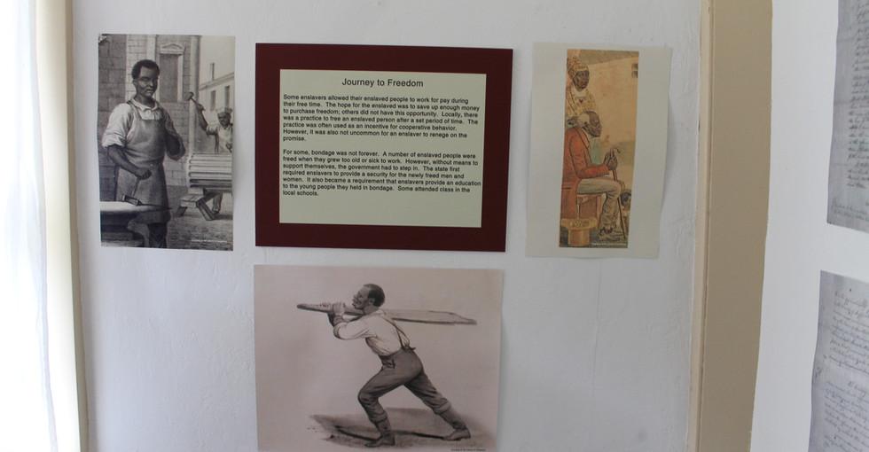 Enslavement in Southold exhibit.JPG