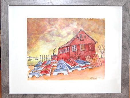 Hurricane Gloria inspired painting by Harry Wicks