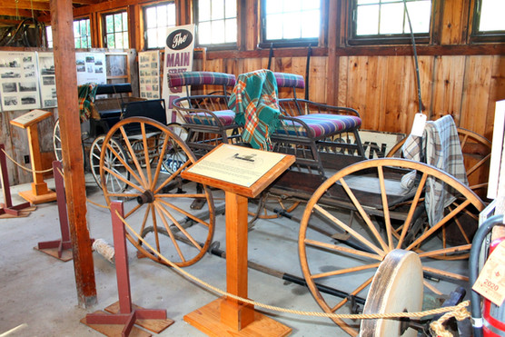 Carriages in Reichert family barn