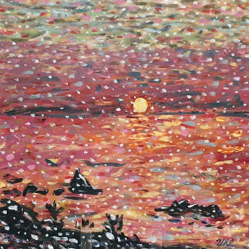Snowflake Sunset by Marilyn Uhl-Utz