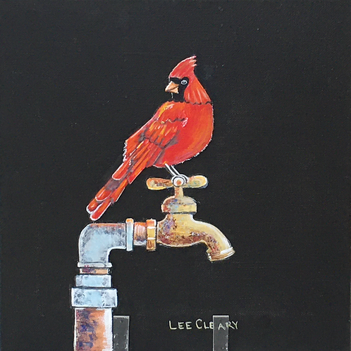 Holly Berry Red Cardinalby Lee Cleary