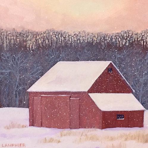 Red Barn Cutchogue by Robert Lamplier