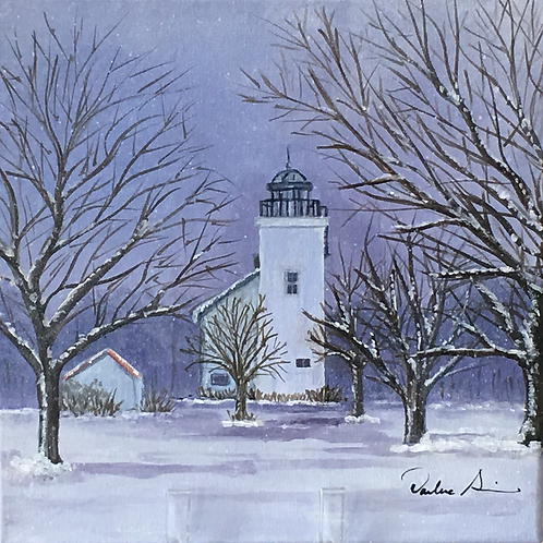 Horton's Lighthouse in Winter by Darlene Siracusano