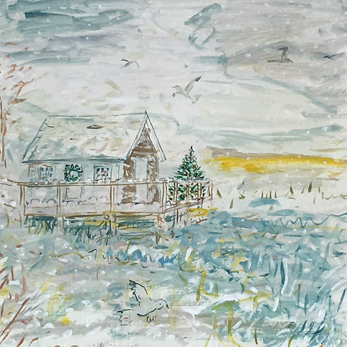 Crab Shack in Winter, Orient by Marilyn Uhl-Utz