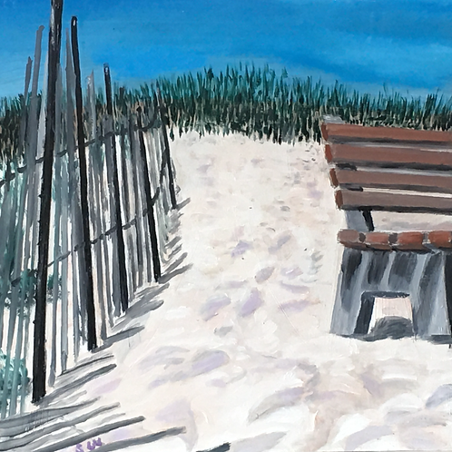 Lonely Bench in Orient by Stuart Whalen