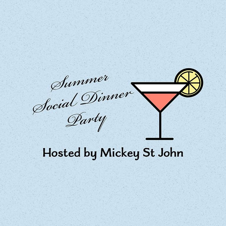 **MEMBERS ONLY** Summer Social Dinner Party - September 12th - Mickey St John