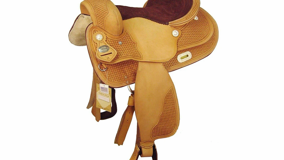 """14"""" TAHOE TOP COMPETITOR PERFORMANCE SADDLE USA LEATHER"""
