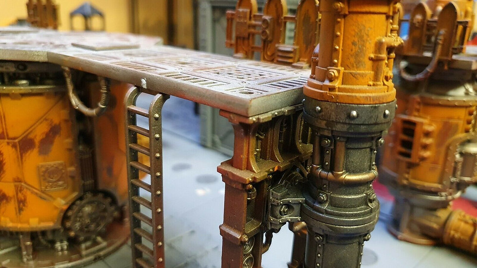 Floor width Pipe Extenders for Sector Mechanicus