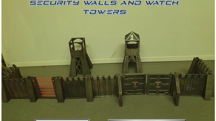 Modular Walls, Gates and Guard Towers STL