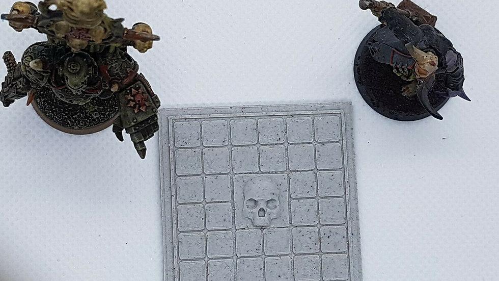 4x Gothic Skull floor tiles