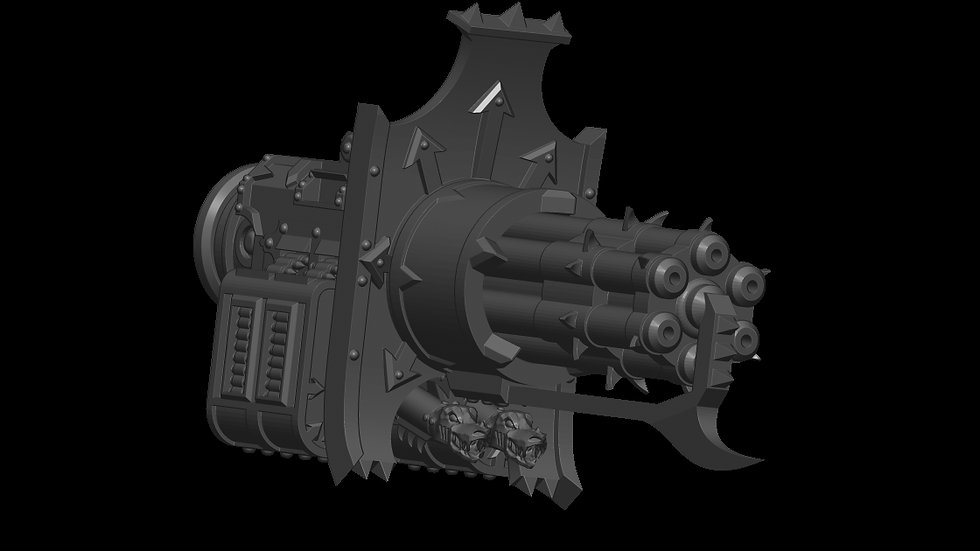 Chaos Knight Scale Rotating Chain Cannon
