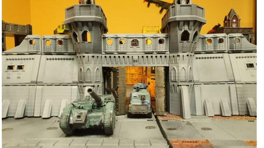 3d Printable Fortress for 28mm wargames