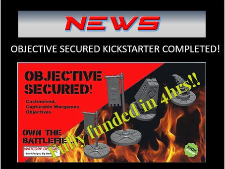 NEWS - OBJECTIVE SECURED KICKSTARTER COMPLETE