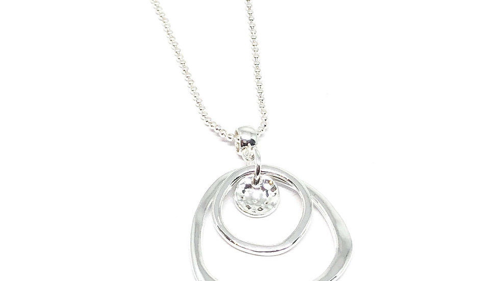 Willow Disc Necklace - Silver