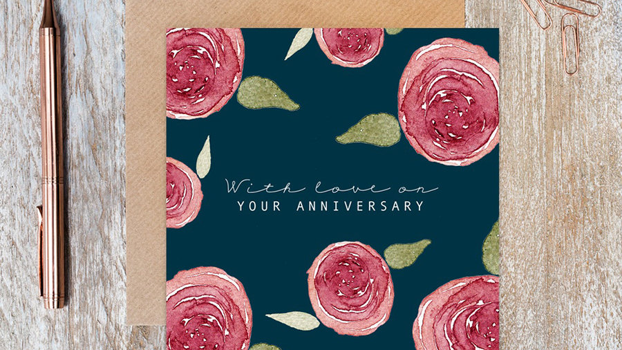 With love on your Anniversary card