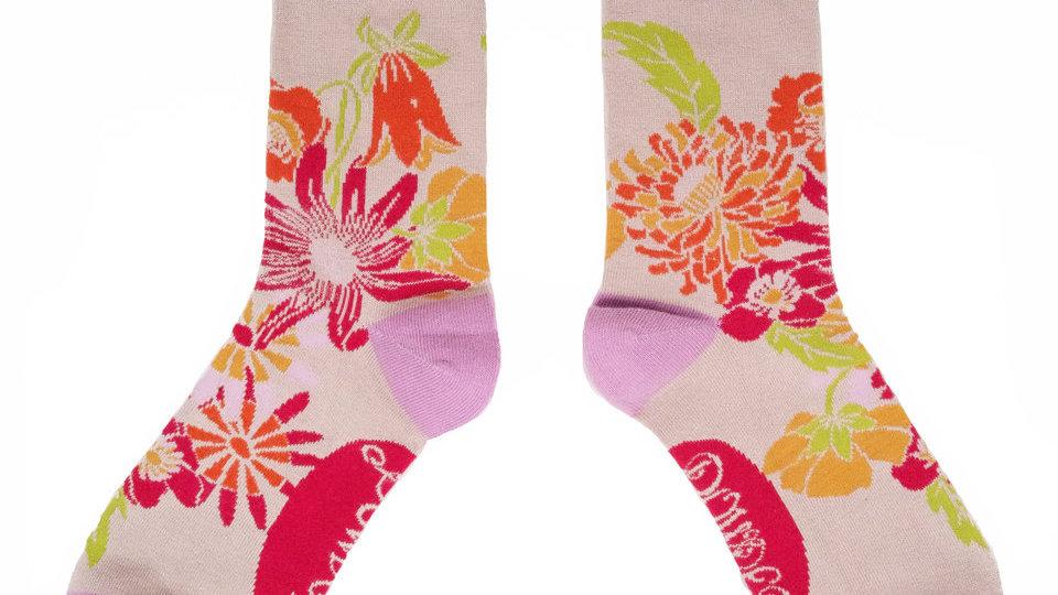 Powder Floral Sock