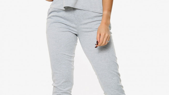 Short Sleeve Boxy Top and Jogger Loungewear
