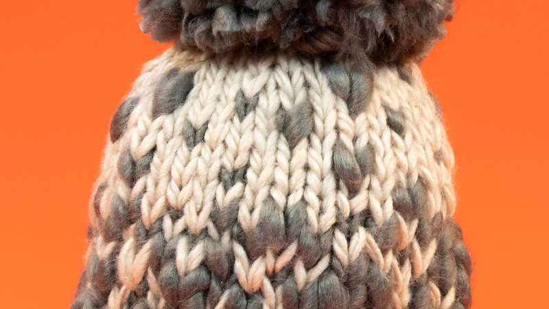 Anika Bobble Hat Slate - One Size