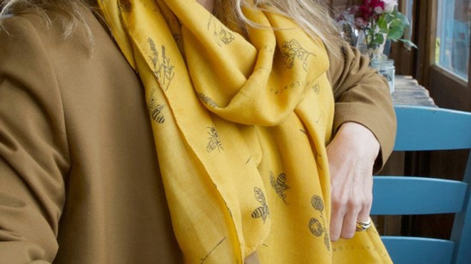Lisa Angel Bee And Wildflower Scarf