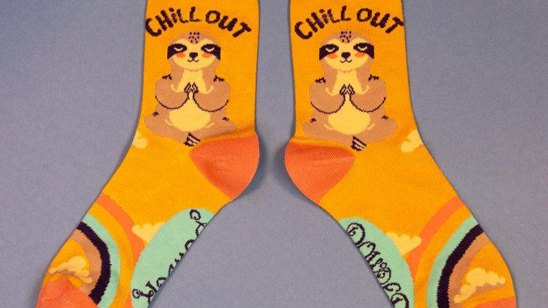 Chill Sloth Ankle Socks Mustard